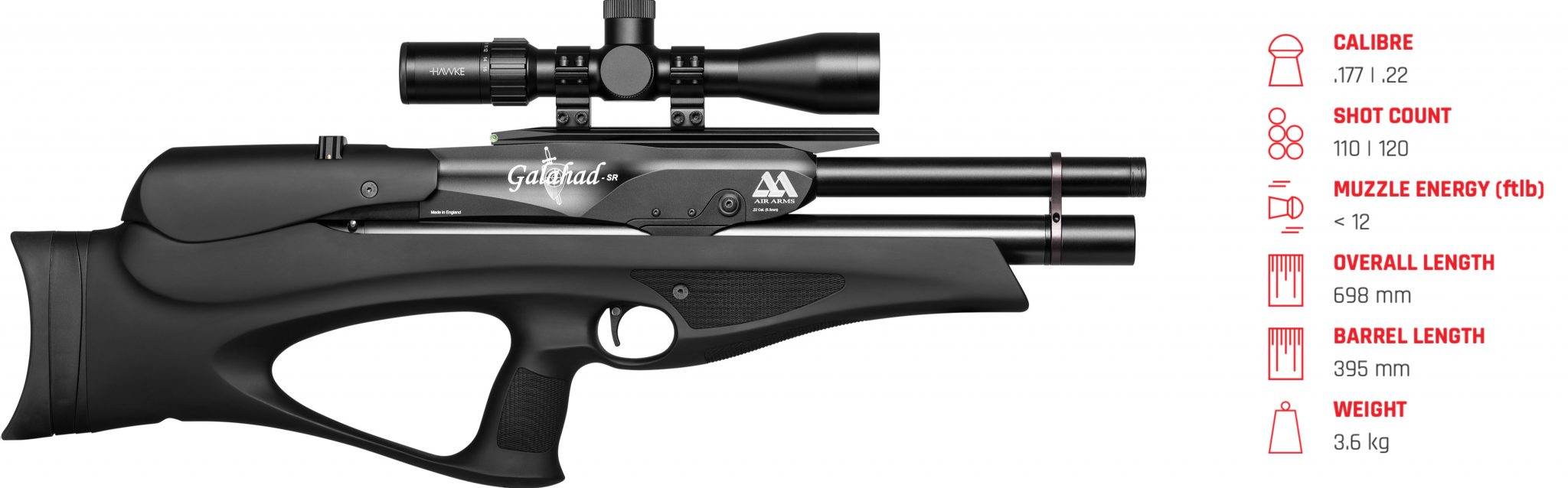 Air Arms Galahad R Black