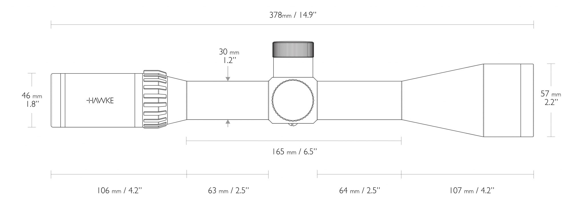 Hawke Airmax Dimensions